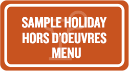 holiday-hors Menu